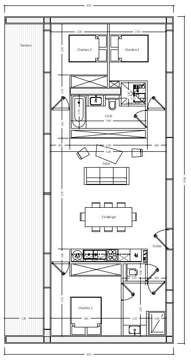 Plan du modèle Pure